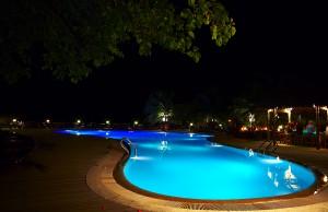 Exterior Lighting around a Pool & Patio
