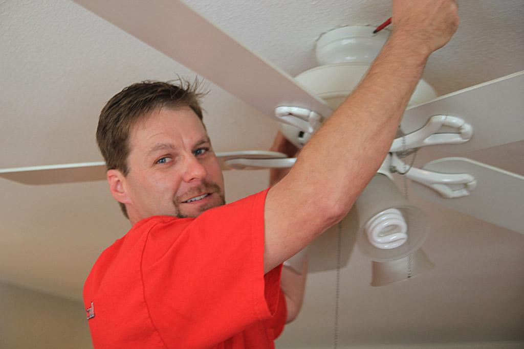 Ventura Electrician Installing Ceiling Fan In Home
